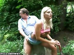 Blonde, Mature, Old and Young, Outdoor