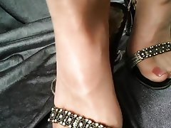Mature, Foot Fetish, Pantyhose, High Heels
