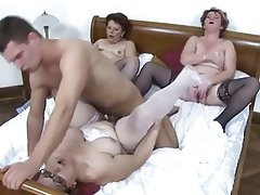 Group Sex, Hardcore, Lingerie, Mature