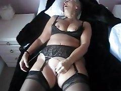 Masturbation, Stockings, Orgasm, Mature