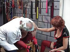 BDSM, Blonde, Pantyhose, Threesome